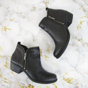 Lucky Brand Black Leather Brenon Ankle Booties 7